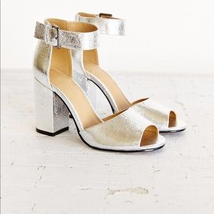Urban Outfitters Silver Metallic sandal Mary Janes